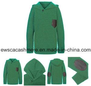 Men′s Green Color Pure Cashmere Sweater