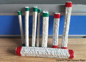 Refractory Braided Ceramic Fiber Round Rope with Stainless Steel Reinforced pictures & photos