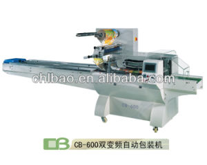 CB-600 Dual Frequency Flow Pack Machinery for Instant Noodles
