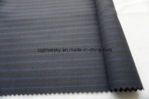 Colorful Strip Navy Wool Fabric of 100% Wool pictures & photos