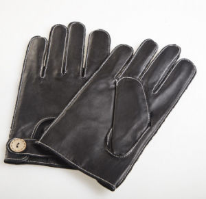 Men′s Fashion Outside Sewing Sheepskin Leather Driving Gloves (YKY5202-2) pictures & photos