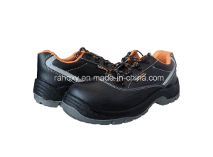 Shiny Smooth Leather Safety Shoes with Mesh Lining (HQ05020) pictures & photos