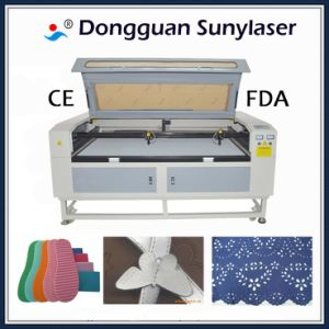 Fast Speed Double Heads Laser Cutting Machine for Fabric with CE FDA pictures & photos