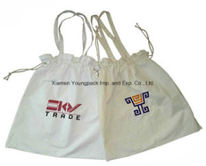 Promotional Custom Reusable 8oz Drawstring Cotton Tote Bag pictures & photos