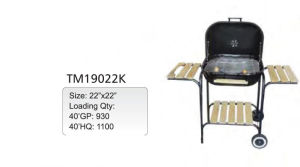 BBQ Charcoal Grill with Wheels (TM-19022K) pictures & photos