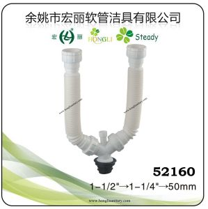 Y Shape Flexible Waste Pipes, Double Siphon for Sink Waste pictures & photos