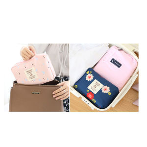 Simple Portable Cotton Cosmetic Bag for Women pictures & photos