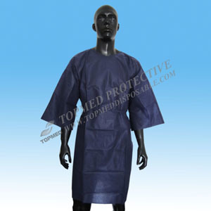 Elastic Cuffs/Knitted Cuff Eo-Sterilized or Not Hot Sale SBPP/PE/PP+PE/SMS Surgical Gown pictures & photos
