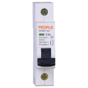 People Brand Miniature Circuit Breaker (RDB67-63H) pictures & photos