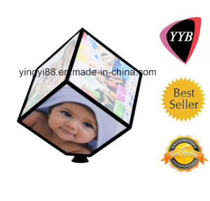 Top Selling Acrylic Rotating Photo Cube Wholesale pictures & photos