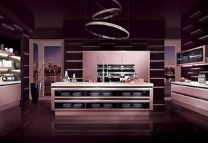 High Gloss Kitchen Furniture with Granite Countertop pictures & photos