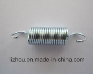 Tension Spring with Blue-White Zinc Plating Surface Treatment