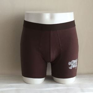 Cheap Fashion Brown Solid Mens Boxer Shorts pictures & photos