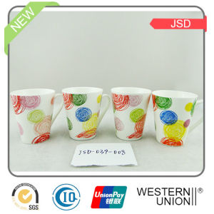 Hotselling Ceramic Mug with Colorful Design pictures & photos