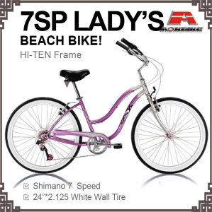 24 Inch 7 Speed Beach Bicycle for Lady (ARS-2404S) pictures & photos