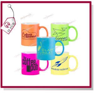 11oz Coated Mug with Fluoresecent Color by Mejorsub pictures & photos