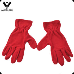 Promotional Warm Five Finger Fleece Glove pictures & photos