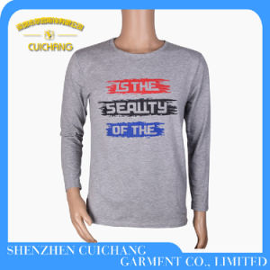 Custom High Quality Long Printed T-Shirt for Men pictures & photos
