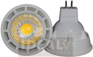 LED MR16 5W COB Spotlight 12V White Finish