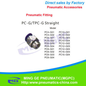 Stainless Steel Pneumatic One Touch Straight Fittings for Air (PC4, PC6, PC8, PC10, PC12)