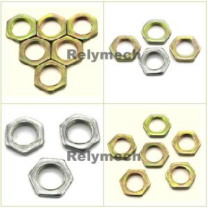 Zinc/Nickel Plated Hex Thin Nut pictures & photos