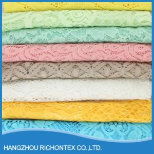 Hot Sell Good Quality Wholesale Stretch Bridal White Wedding Lace Fabric