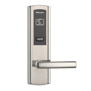 High Quality SUS304 MIFARE M1 Card Hotel Lock with Encoder and Software with Card and Mechanical Key pictures & photos