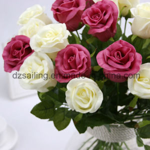 PU Artificial Rose Wedding Flower for Decoration (SW01503) pictures & photos