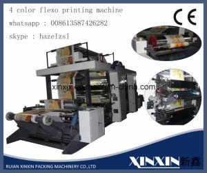 Smallest Color Registration 4 Color Flexo Printing Machine Origin China
