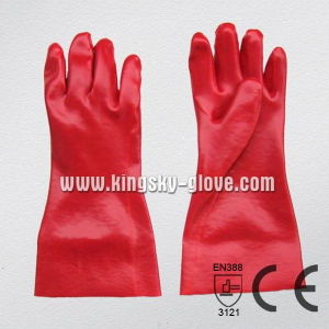 Red PVC Industrial Glove with Ce Certificate (5108-27) pictures & photos