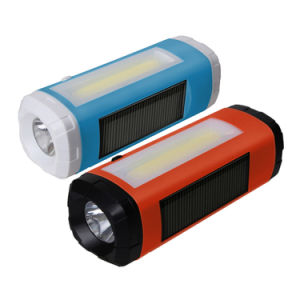 Solar Mini Portable Bluetooth Speaker with FM Radio LED Flashlight pictures & photos