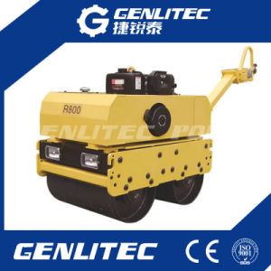 Portable Single Drum Gasoline Road Roller Compactor with Loncin Engine pictures & photos