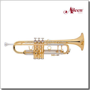 B Style Brass Lacquered Finish Yellow Brass Bell Trumpet (TP8390G) pictures & photos