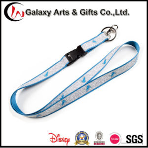 15mm Custom Printed Polyester Glitter Lanyard for Keychain/Badge