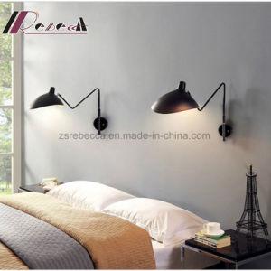 Design Simple Hotel Indoor Matt Black Iron Wall Lamp pictures & photos