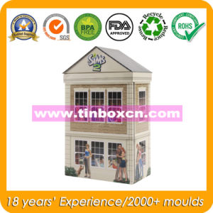 House Shape Tin Box, Gift Tin Can, Metal Gift Box pictures & photos