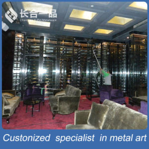 High-End Customized Mirror Cocoa Wine Cellar with Cooler pictures & photos