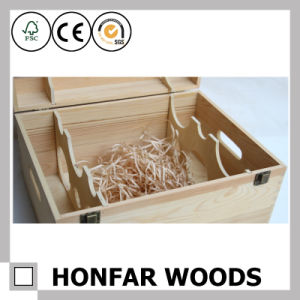 6 Bottles Natural Pine Wood Wine Box Packaging Box pictures & photos