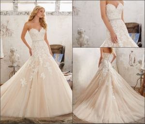 2017 Mermaid Ball Gowns Lace Tulle Wedding Dresses M8101 pictures & photos