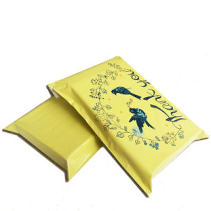 Plastic Yellow Color Printed Logo Shipping Courier Mailing Bag pictures & photos
