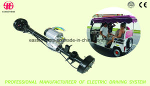 Factory Hot Sales Oil Brake Rear Axle with Two Speed for Passenger Tricycle pictures & photos