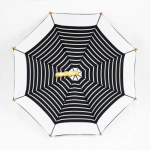 Real Bamboo Handle Double Layer Straight Manual Umbrella (JL-MPC101) pictures & photos