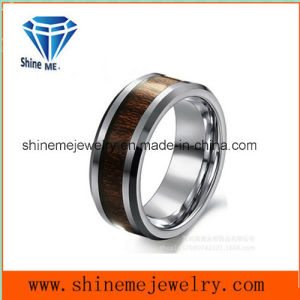 Tungsten Carbide Natural Color Ring Inlay Wood Ring pictures & photos