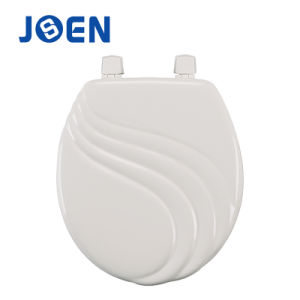 Wave Design Carved MDF Moulded Toilet Seat Lid pictures & photos