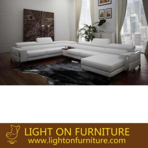 Home Hotel Lobby Furniture U Shape Luxury Leather Sofa (L067) pictures & photos