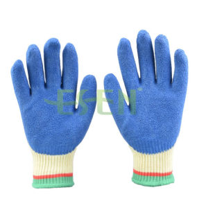 Nitrile Cotton Glove Nitrile Coated Cut Resistant Glove pictures & photos