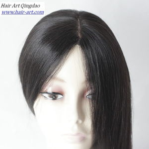 Silky Straight Chinese Virgin Hair Human Hair Silk Top Wig pictures & photos