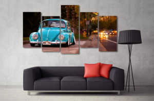 HD Printed Volkswagen Beetle Car Painting on Canvas Room Decoration Print Poster Picture Mc-038 pictures & photos