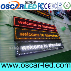 USB Semi-Outdoor Single Color P10 LED Moving Message Sign for Shop Banner