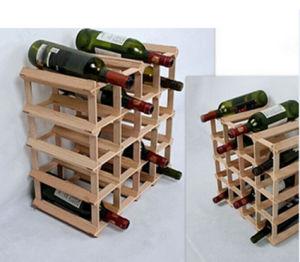 DIY 20 Bottle Solid Pine Wood Wine Rack pictures & photos